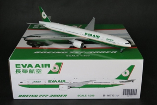 B777-300ER (Eva Air oc) B-16712 With Stand (JC Wings XX2781)